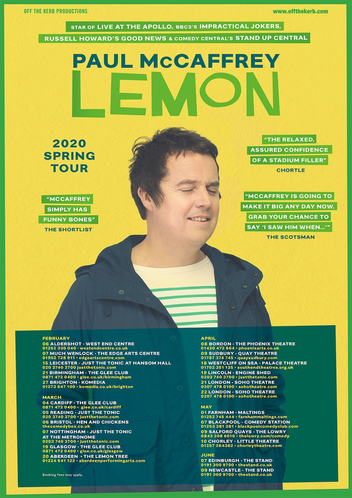 Paul McCaffrey - Lemon - 2020 tour